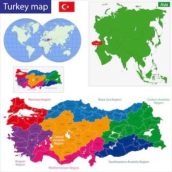 Turkije kaart