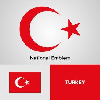 Turkije nationaal embleem en vlag