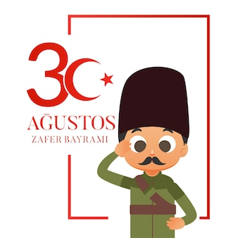 Turkije nationale dag illustratie