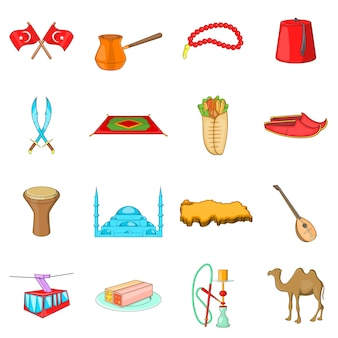 Turkije pictogrammen instellen