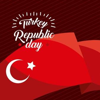 Turkije republiek dag poster