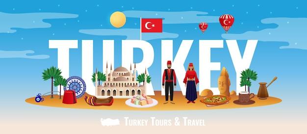 Turkije woord illustratie