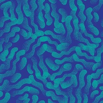 Turkoois blauw abstracte gestippelde textuur raar naadloos patroon