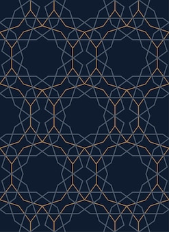 Turks, geometrisch, donker, naadloos patroon. lineair ornament voor decoratie. vector illustratie