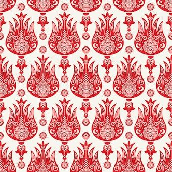 Turks tulpen naadloos patroon