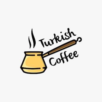 Turkse koffie logo ontwerp inspiratie