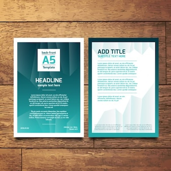 Turquoise abstract a5 brochure