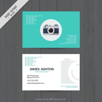 Turquoise color visitekaartje voor fotografie