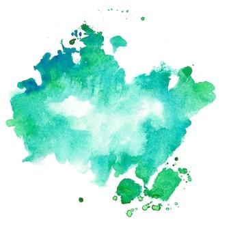 Turquoise en blauwe aquarel textuur vlek achtergrond