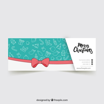 Turquoise facebook kerst cover