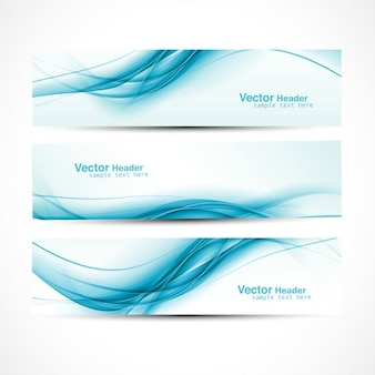 Turquoise golvende headers