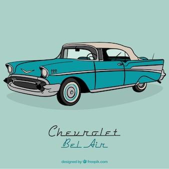 Turquoise retro auto