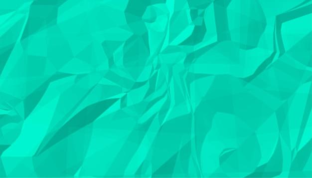 Turquoise verfrommeld gekreukt papier textuur achtergrond