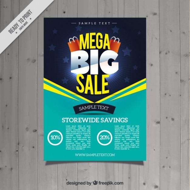 Turquoise verkoop flyer