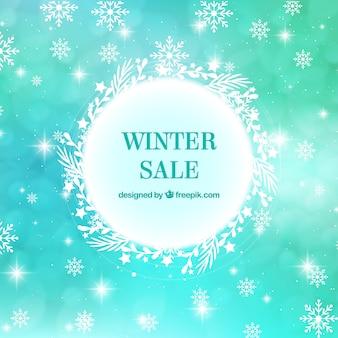 Turquoise winter verkoop ontwerp