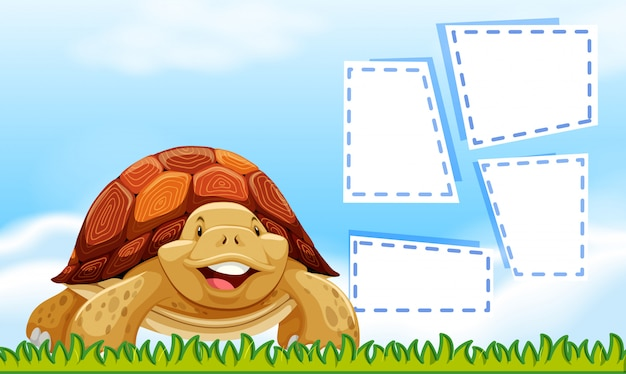 Turtle lucht grens sjabloon