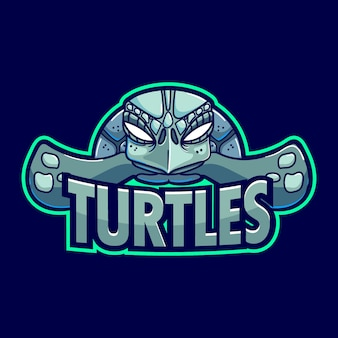 Turtle mascot logo sjabloon