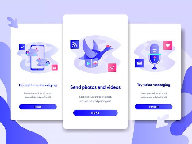 Tutorial schermpaginasjabloon van chat messaging app
