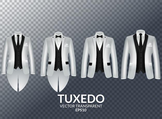 Tuxedo en boog. stijlvol pak.