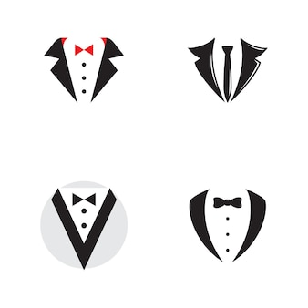 Tuxedo exclusieve sjabloon vector pictogram illustratie ontwerp