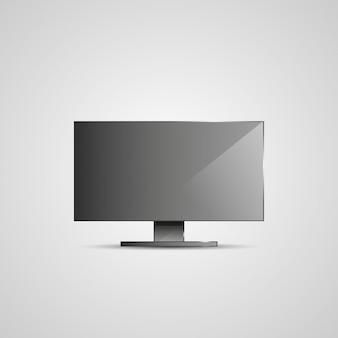 Tv flat screen icd illustratie.
