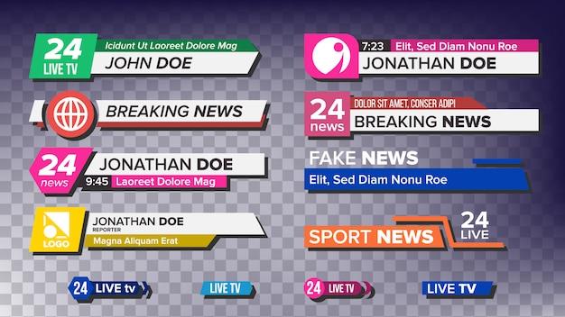 Tv nieuws bars set