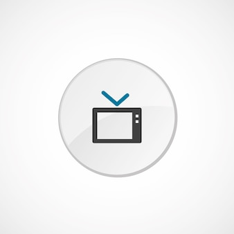 Tv-pictogram 2 gekleurd, grijs en blauw, cirkelbadge