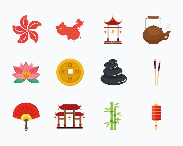 Twaalf chinese cultuur iconen