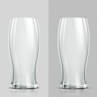 Twee bierglazen. transparant realistisch element