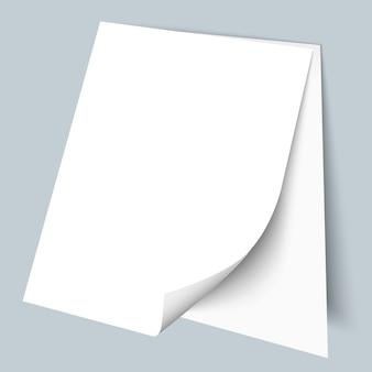 Twee blanco vellen papier