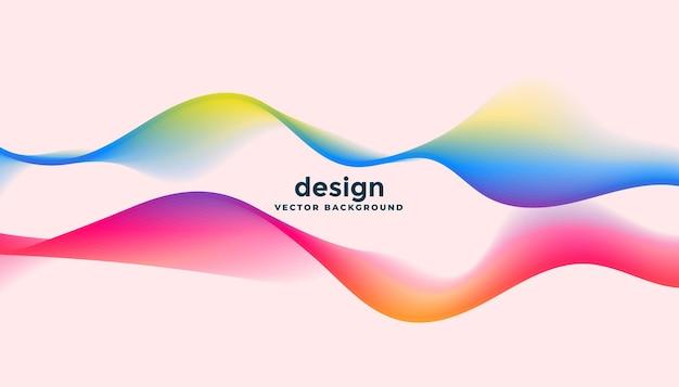 Twee dynamisch vloeiende golven in kleurrijke stijl