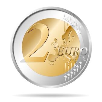 Twee euromunten