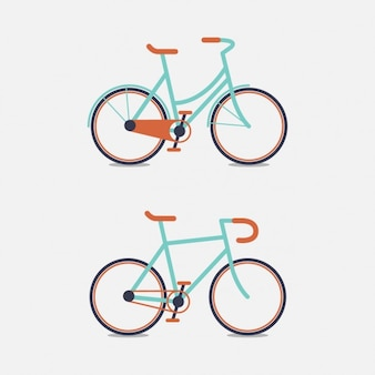 Twee gekleurde fiets ontwerp