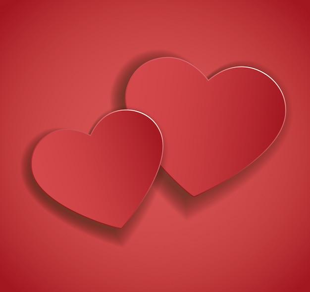 Twee harten pictogram