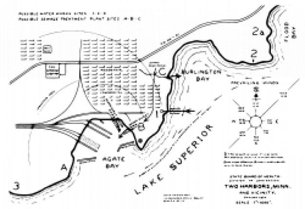 Twee havens kaart