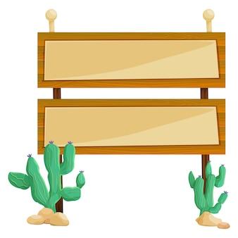 Twee houten bordjes op de paal