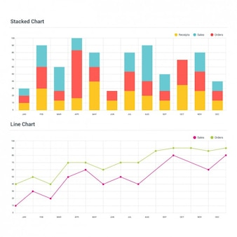 Twee infographic grafieken