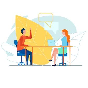 Twee jonge creatieve kantoorcollega's brainstormen