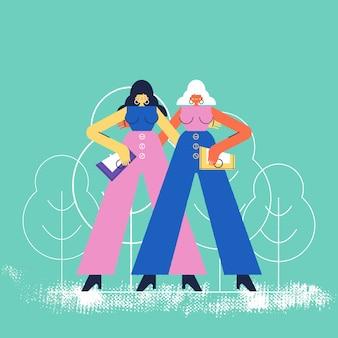 Twee jonge vrouwen