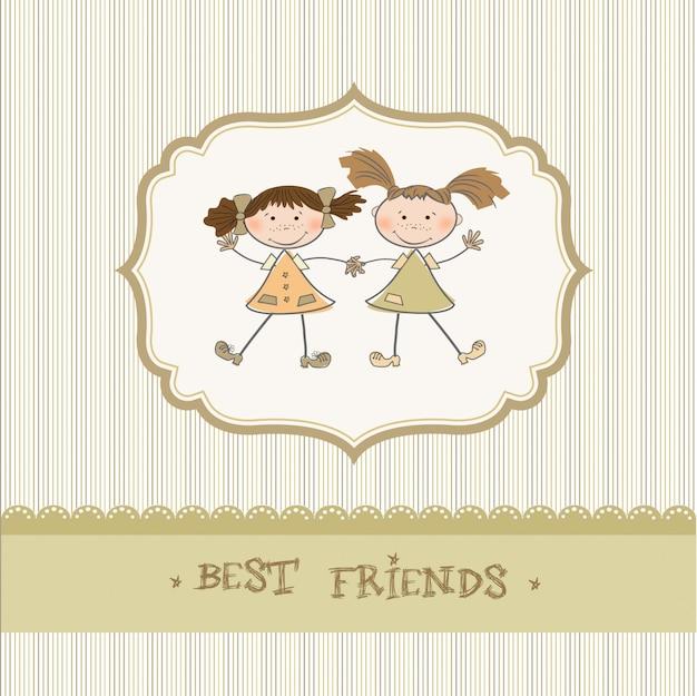 Twee kleine meisjes beste vrienden