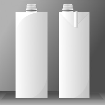 Twee lege melk tetrabriks