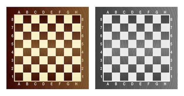 Twee lege schaakbord. concept van grafische vectorillustratie. kunstontwerp geruit, dambord of schaakbord