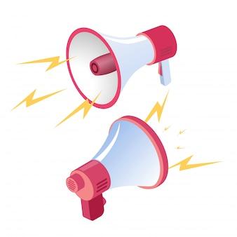 Twee luidsprekers luidspreker werkt op volle kracht.