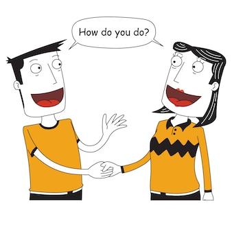 Twee mensen die hun handen schudden