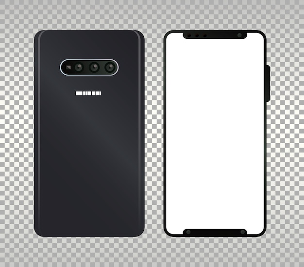 Twee mockup-smartphones.