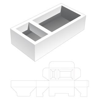 Twee nissen tray box gestanst sjabloon