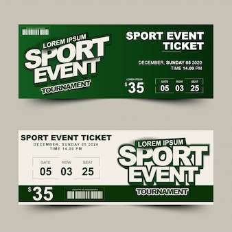 Twee optie sportevenement toernooiticket