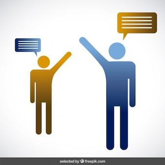 Twee personen praten