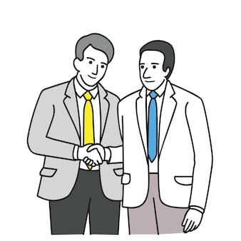 Twee politicus die overeenkomst maakt