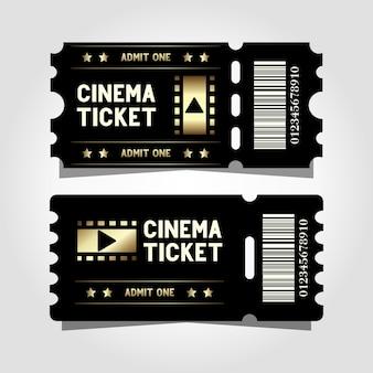 Twee premium bioscoopsjabloonontwerp